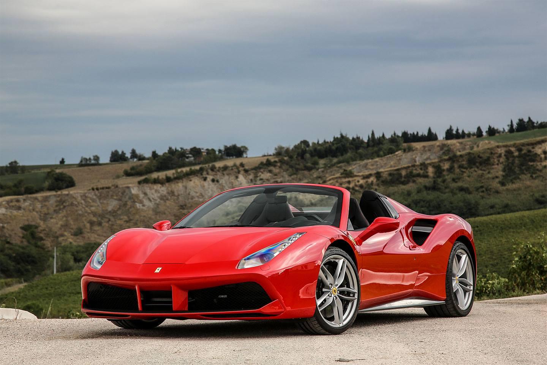 Red Ferrari 488 Spider a