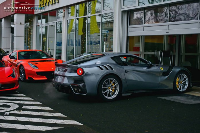 Grey Ferrari F12tdf