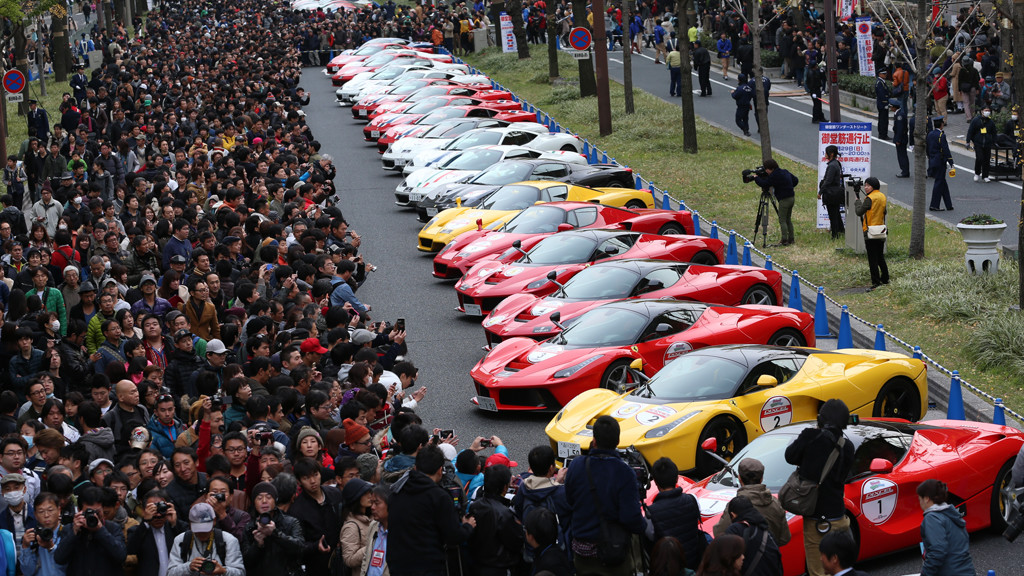 Epic Ferrari Parade in Japan Gathers Thousands on Osaka Streets