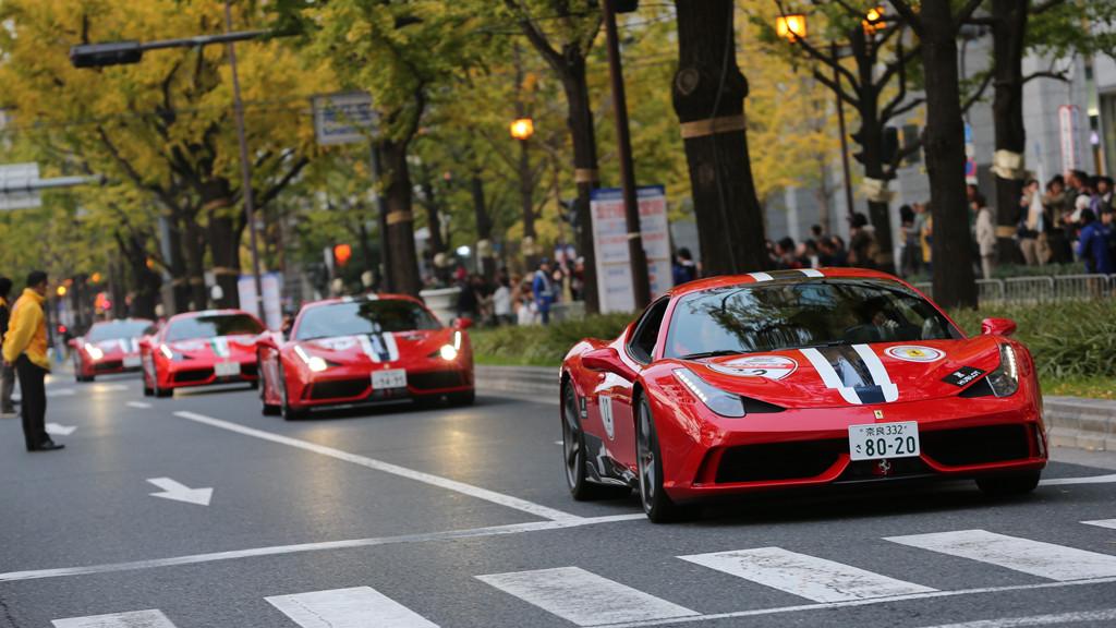 Ferrari 458 Speciale parade