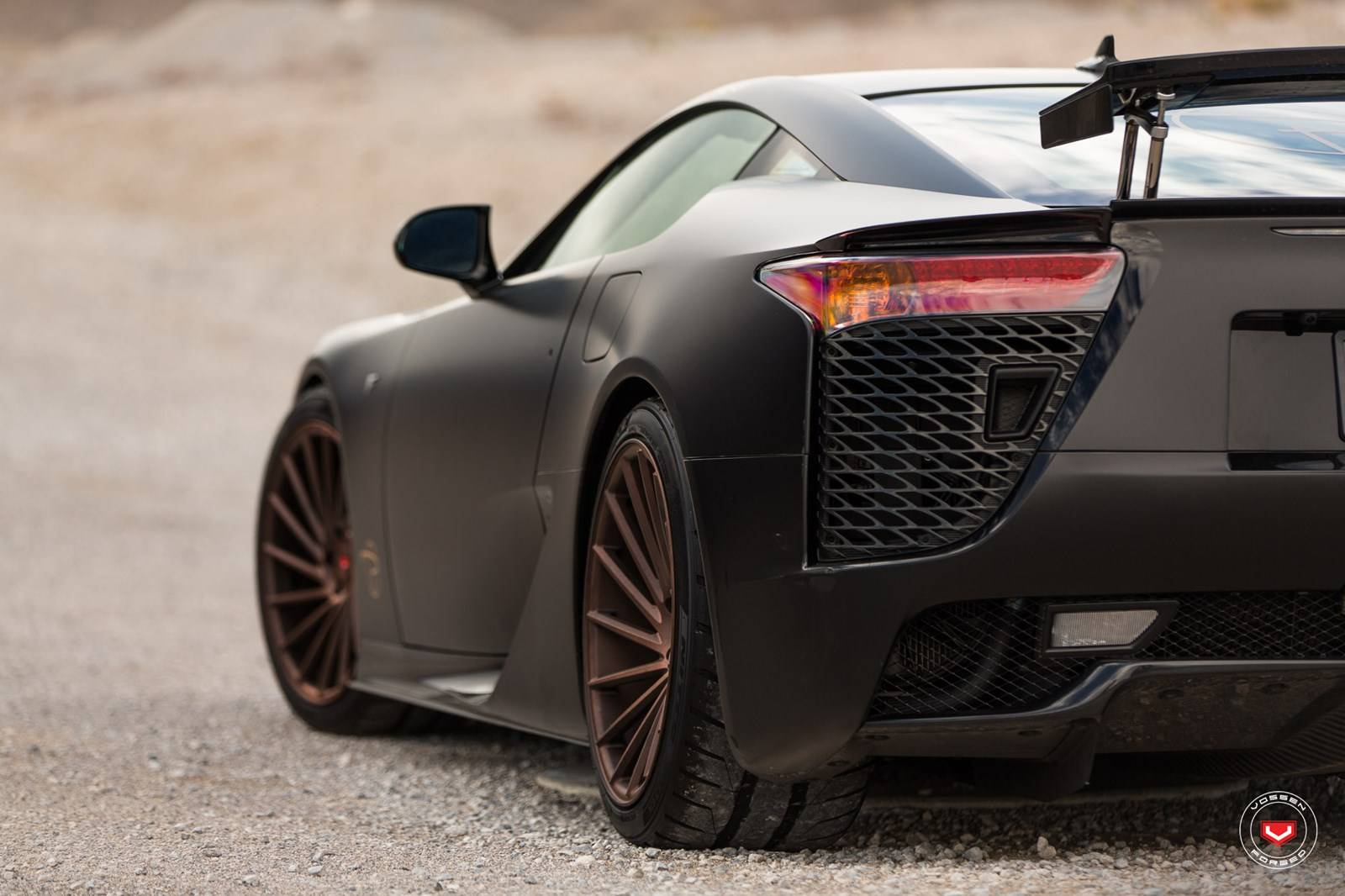 satin black lexus lfa stuns on vossen wheels gtspirit. Black Bedroom Furniture Sets. Home Design Ideas