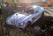 Mercedes-AMG GT crash