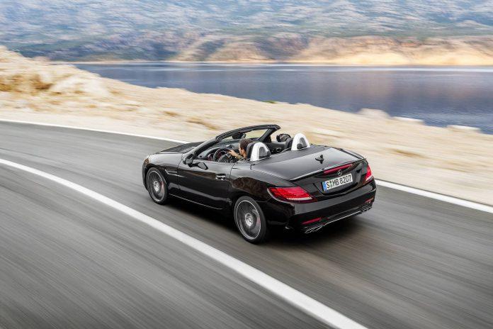 2016 Mercedes-AMG SLC 43 rear view