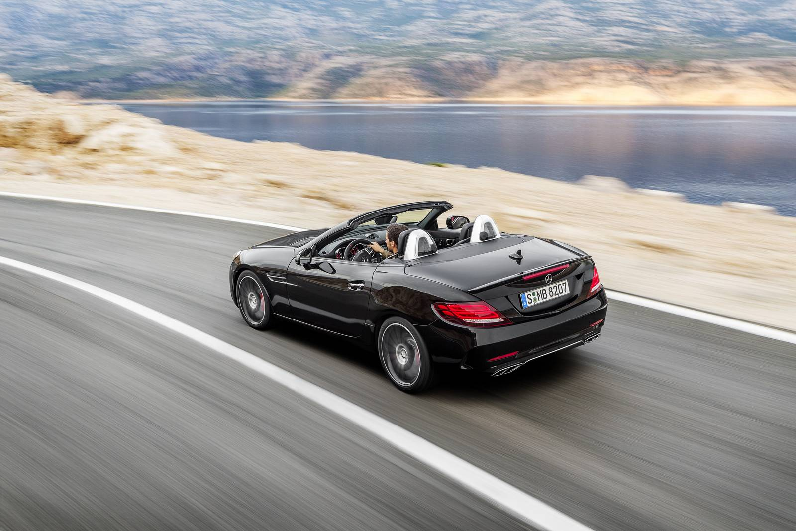 2016 Mercedes-AMG SLC 43 rear view