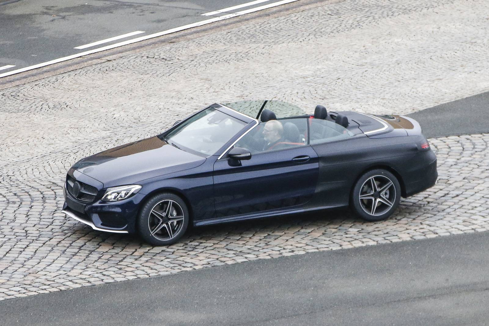 2017 mercedes benz c class cabriolet spy shots with top. Black Bedroom Furniture Sets. Home Design Ideas