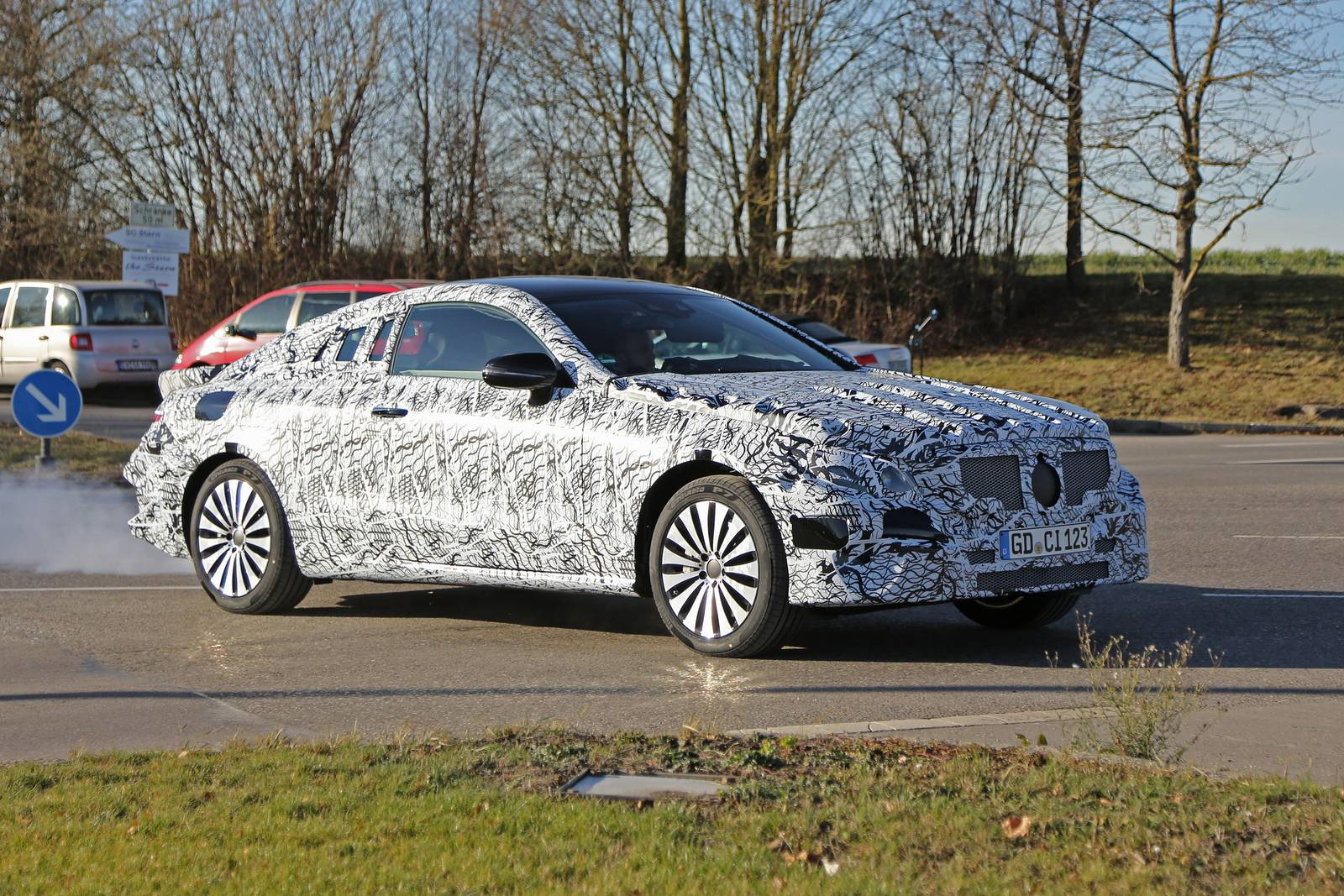 2018 mercedesbenz eclass coupe spy shots  gtspirit