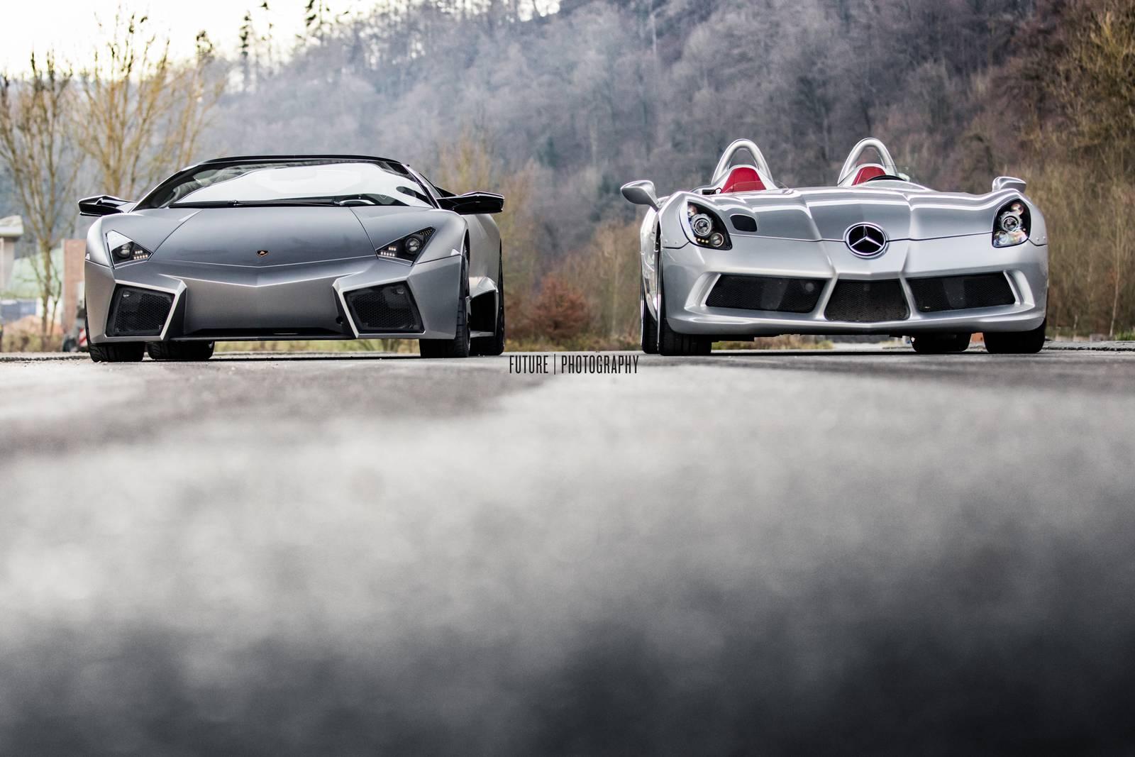 Lamborghini Reventon and SLR McLaren Stirling Moss