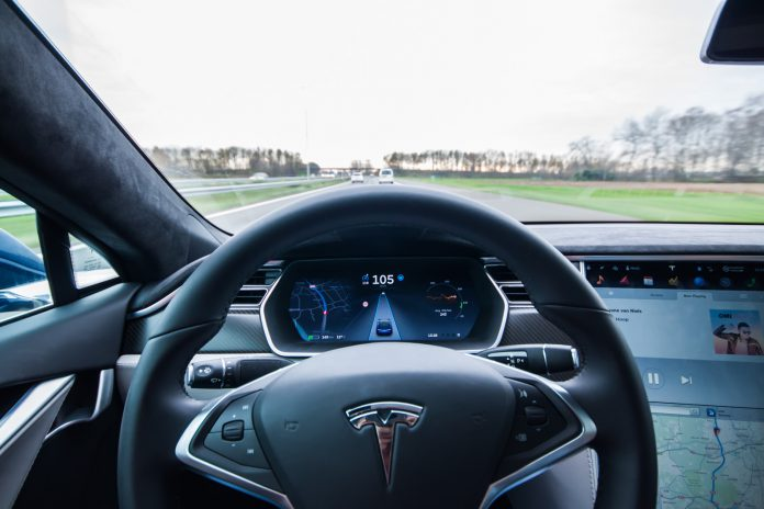 2016 Tesla Model S P90D interior