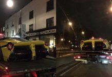 Yellow LaFerrari Crash London