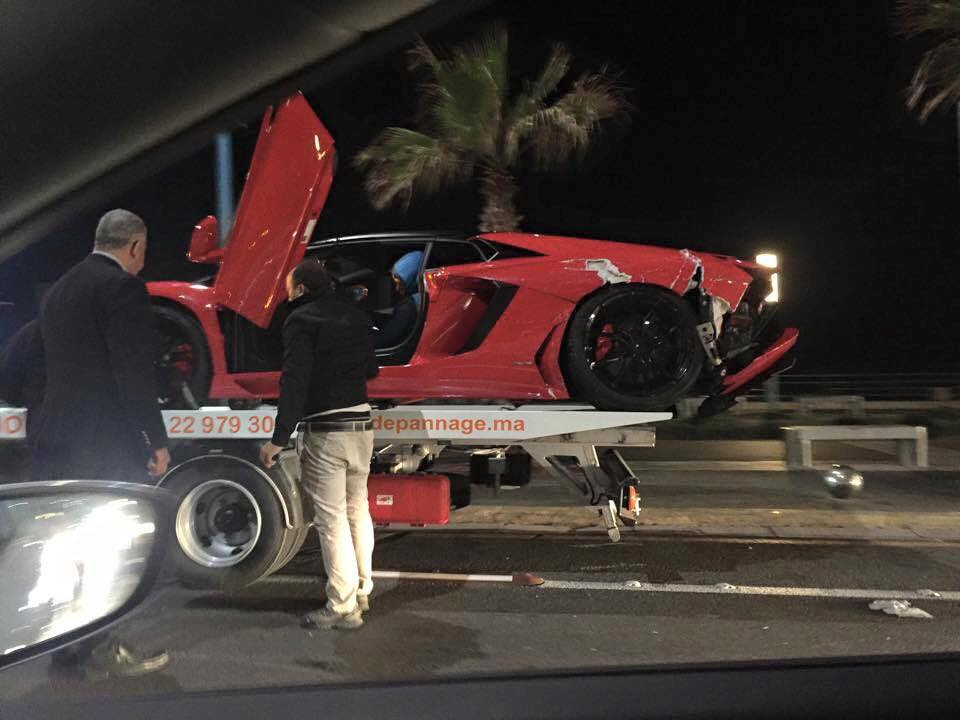 Lamborghini Aventador Roadster Crashed In Morocco Gtspirit
