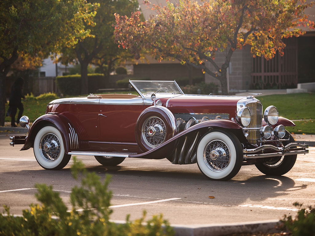 1929 Duesenberg Model J Disappearing Top Torpedo Convertible Coupe by Murphy