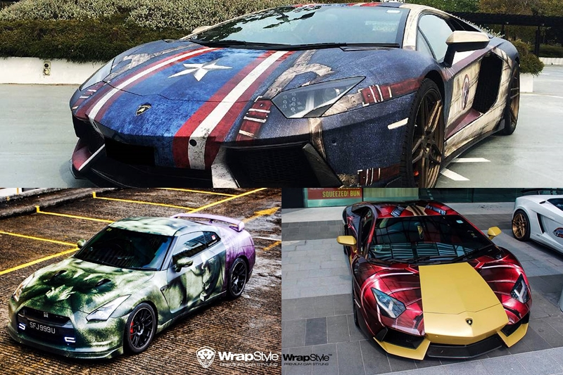 Mini Supercars For Sale >> Marvel Superhero-Themed Supercars by WrapStyle Singapore - GTspirit
