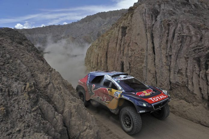 Sebastien Loeb during stage 5  from Jujuy, Argentina to Uyuni.