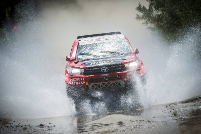 South African Giniel De Villiers in action  - Toyota Hilux