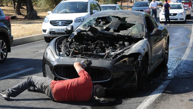 Maserati GranTurismo Burning