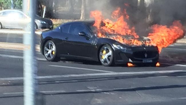 Maserati GranTurismo MC Stradale fire