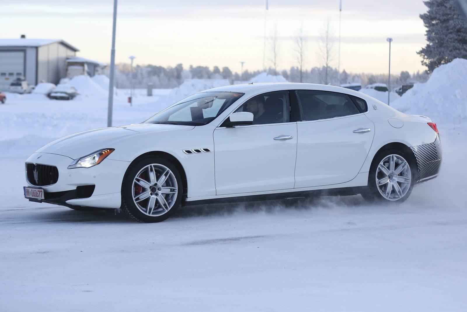 Maserati Ghibli Snow >> Maserati Quattroporte Facelift First Spy Shots - GTspirit