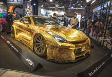Gold Nissan GT-R
