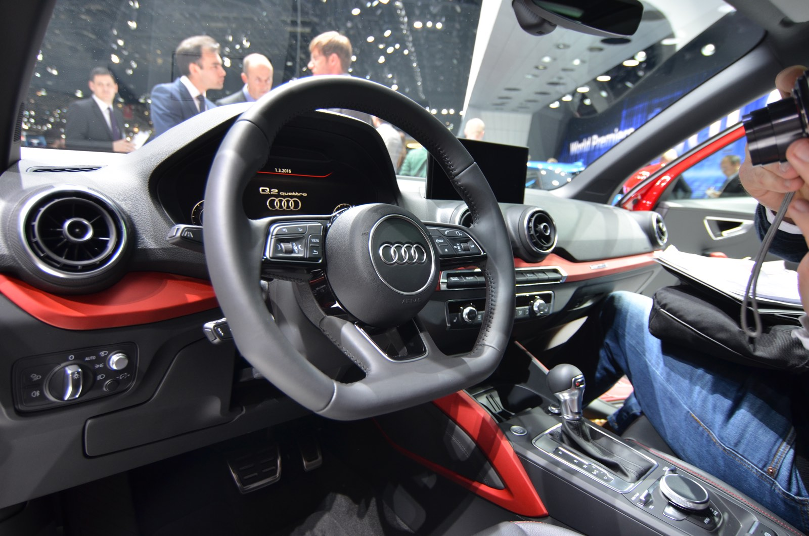 Audi Q2 at the Geneva Motor Show 2016