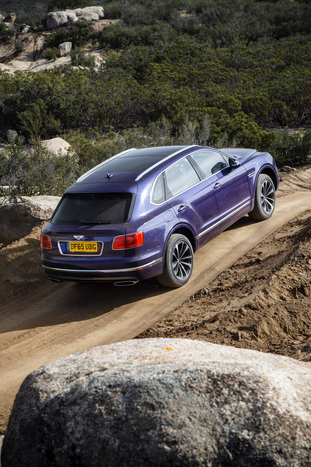Azure Purple Bentley Bentayga Off Road