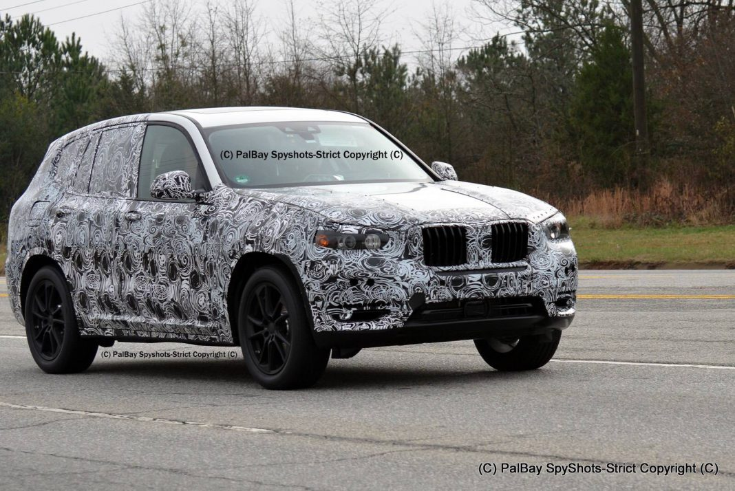 2017 bmw x3 m40i first spy shots gtspirit. Black Bedroom Furniture Sets. Home Design Ideas