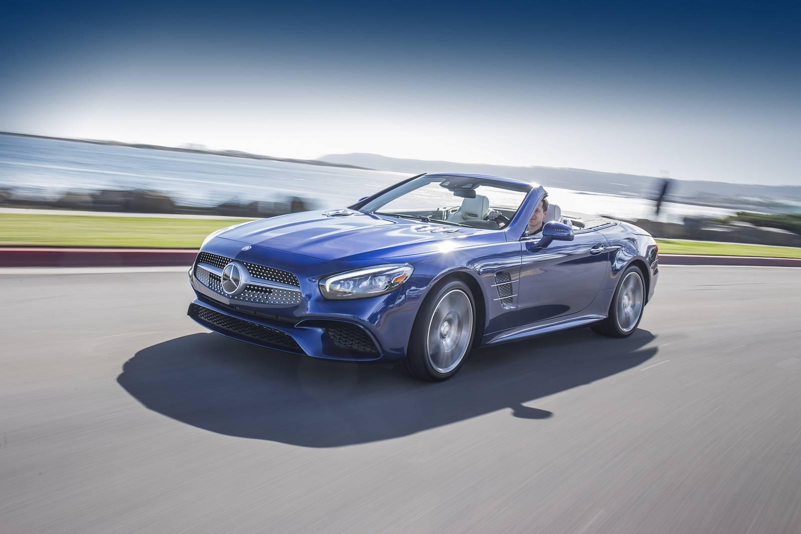 2017 mercedes benz sl review gtspirit for Blue mercedes benz
