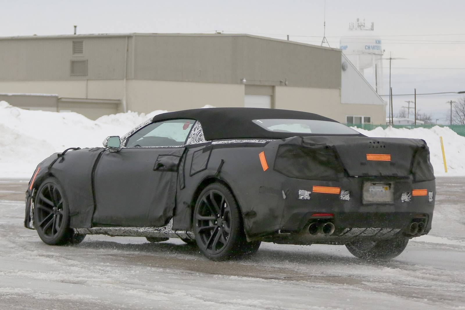 2017 Chevrolet Camaro Zl1 Convertible Spy Shots Gtspirit