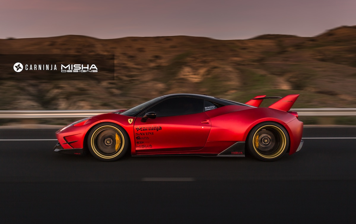 Misha Designs Ferrari 458 Widebody Photoshoot Gtspirit