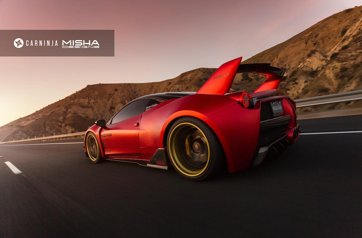 Misha Designs Ferrari 458 Widebody Photoshoot Gtspirit