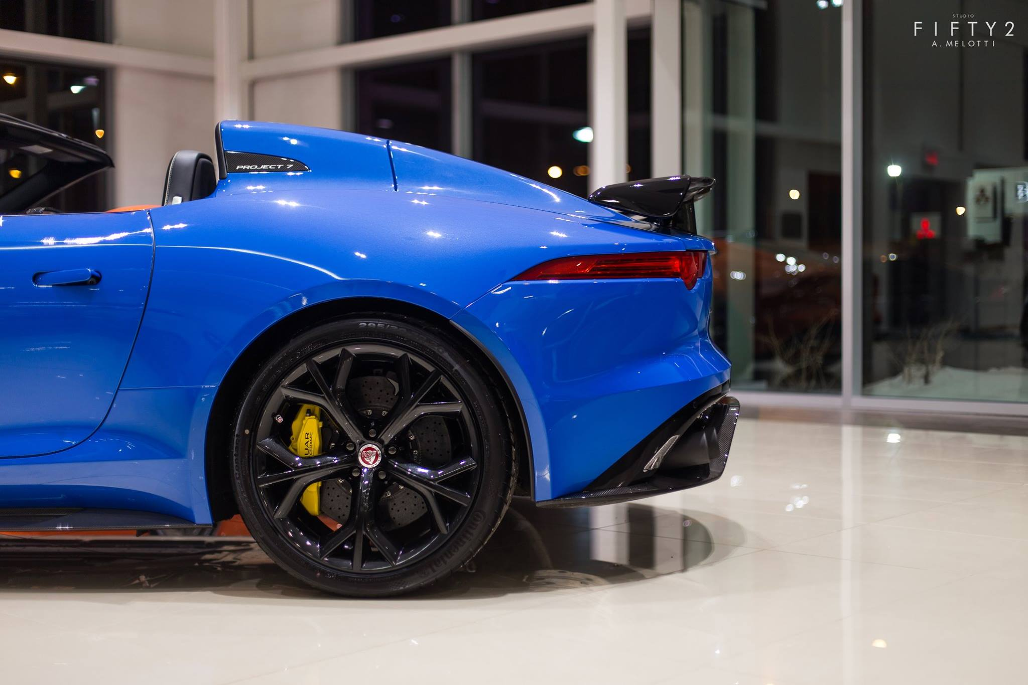 1 of 7 jaguar f type project 7 in canada shines in blue gtspirit. Black Bedroom Furniture Sets. Home Design Ideas