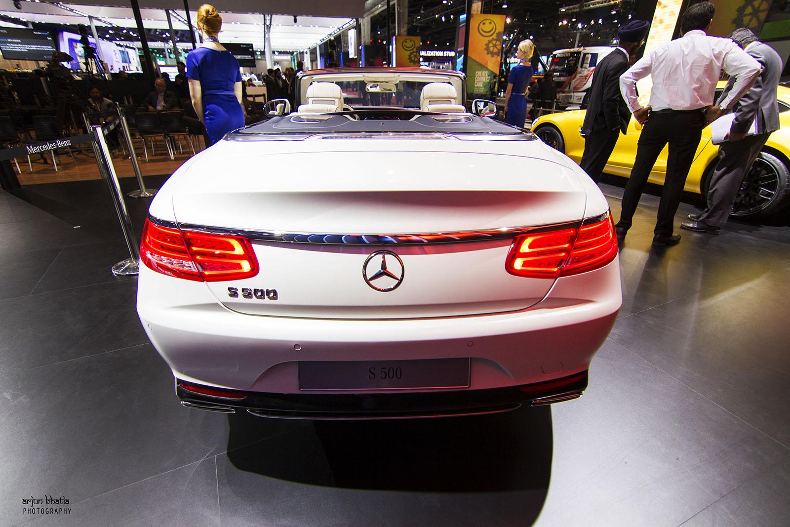 Mercedes-Benz S-Class Cabriolet Delhi Auto Expo 2016 1