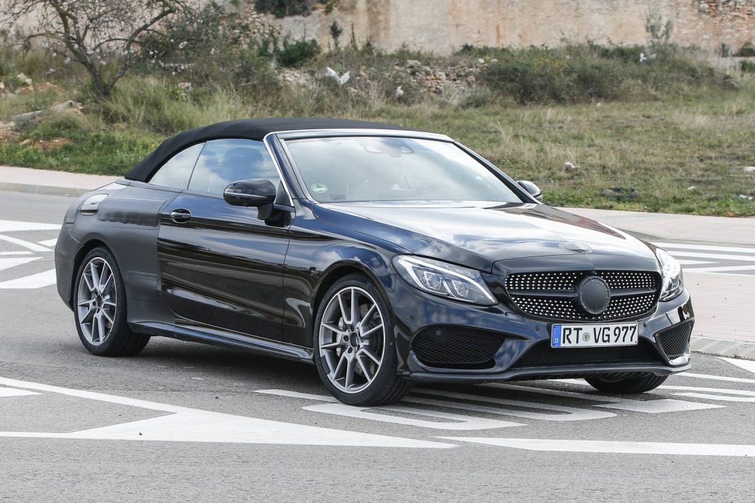 mercedes amg c43 and c63 cabriolet spy shots emerge gtspirit. Black Bedroom Furniture Sets. Home Design Ideas