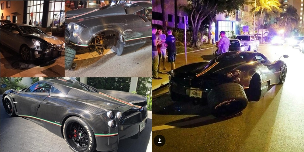 Pagani Huayra La Monza Lisa Crashes in Miami Beach