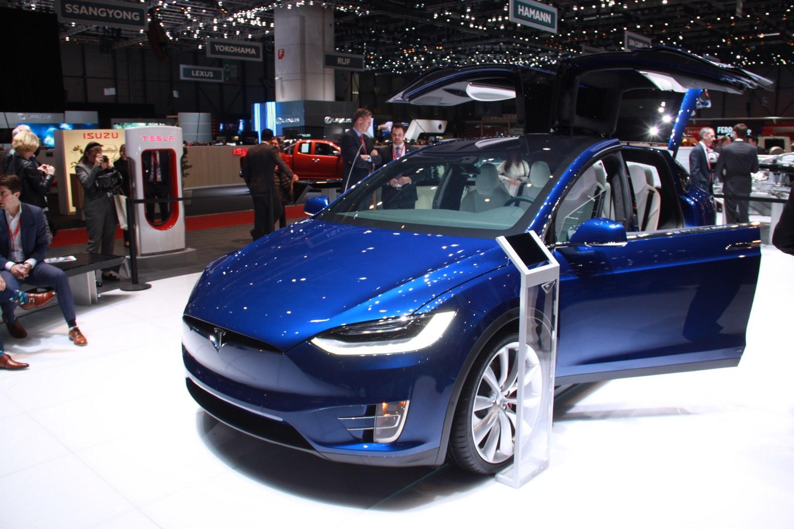 Tesla Model X at Geneva Motor Show 2016