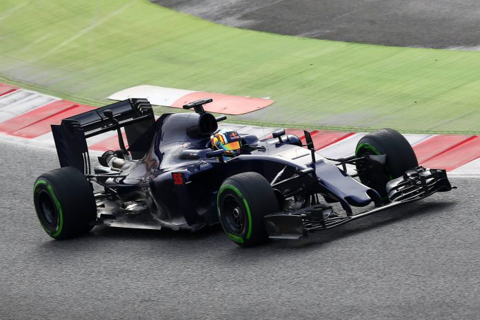 The new Toro Rosso STR11 debuted without a livery, official colors will be revealed on Feb 29