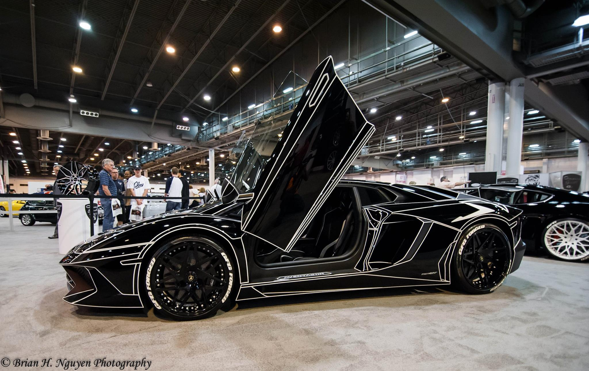 Black Tron Lamborghini Aventador By Giovanna Wheels Gtspirit