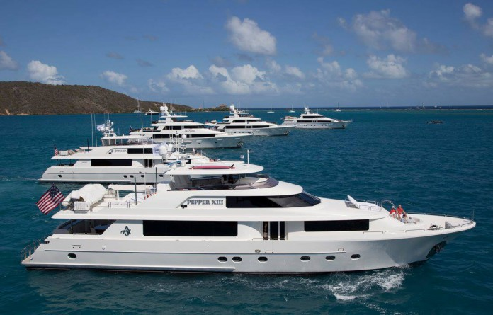 Superyachts at the Westport Rendezvous Cruise