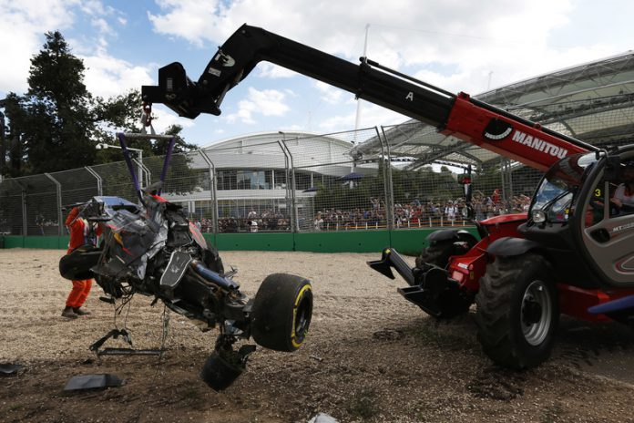Alonso's McLaren after the crash
