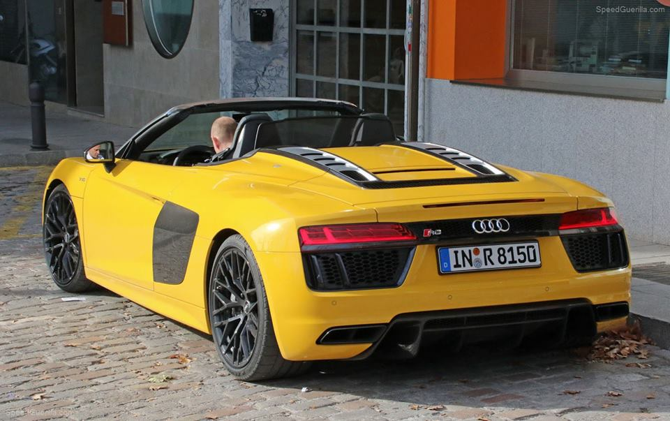 Yellow 2018 Audi R8 Spyder Snapped In The Open Carhoots