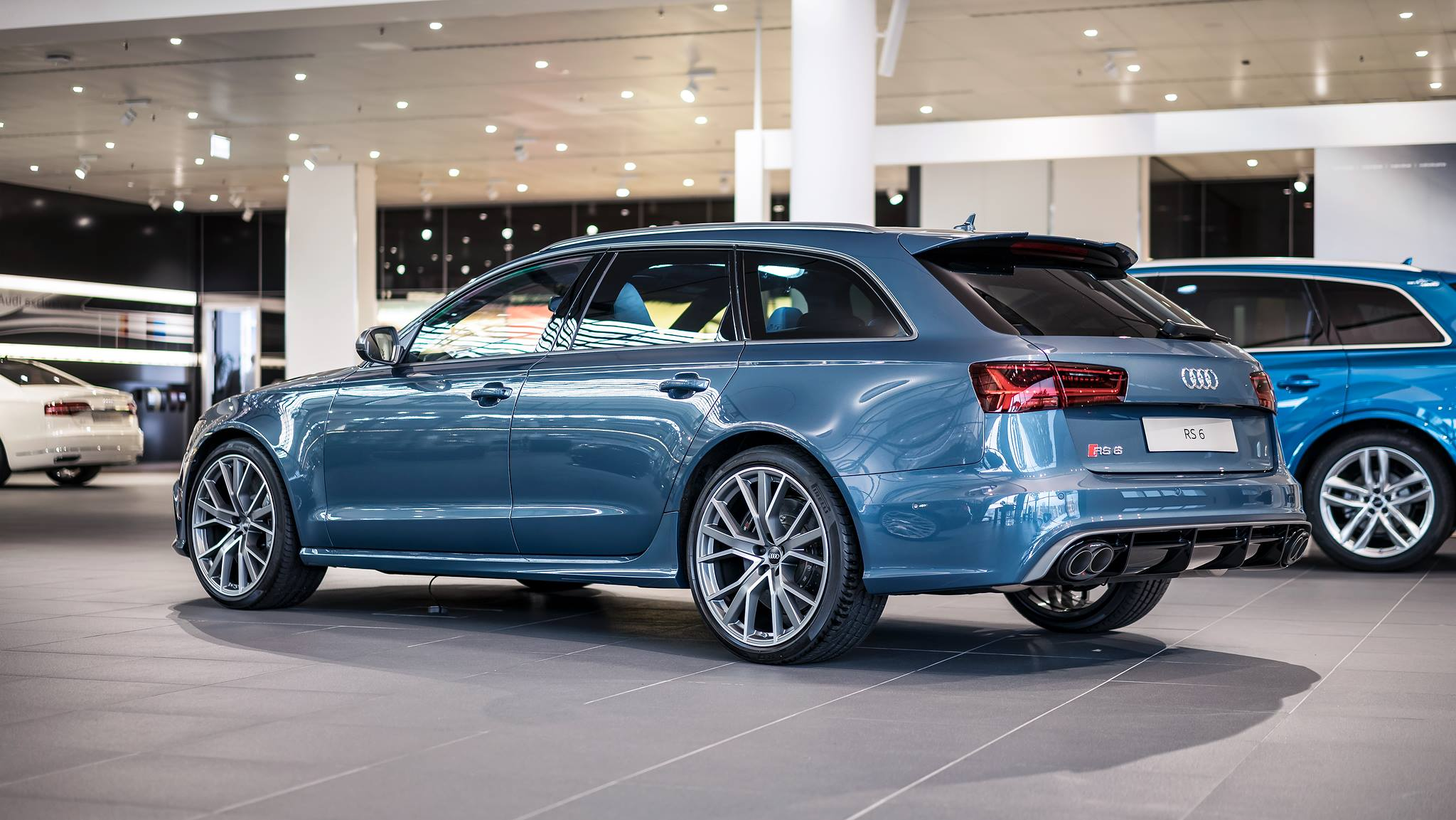 Polar Blue Metallic Audi Rs6 Performance By Audi Exclusive Gtspirit