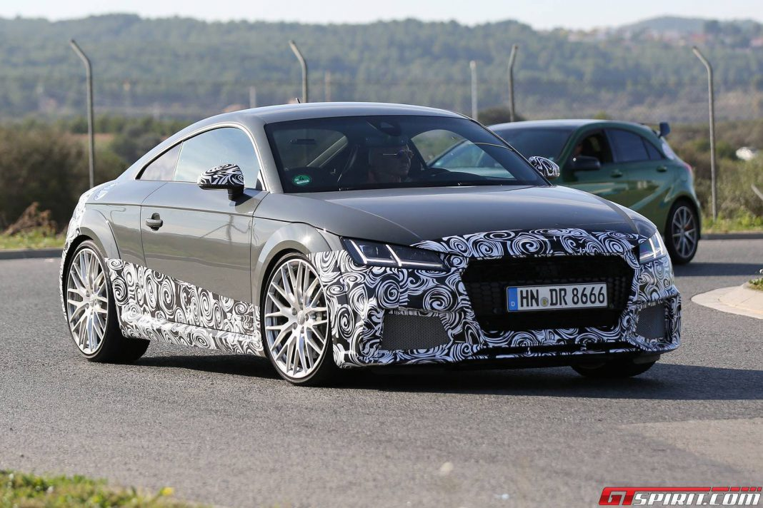2017 audi tt rs new spy shots gtspirit. Black Bedroom Furniture Sets. Home Design Ideas