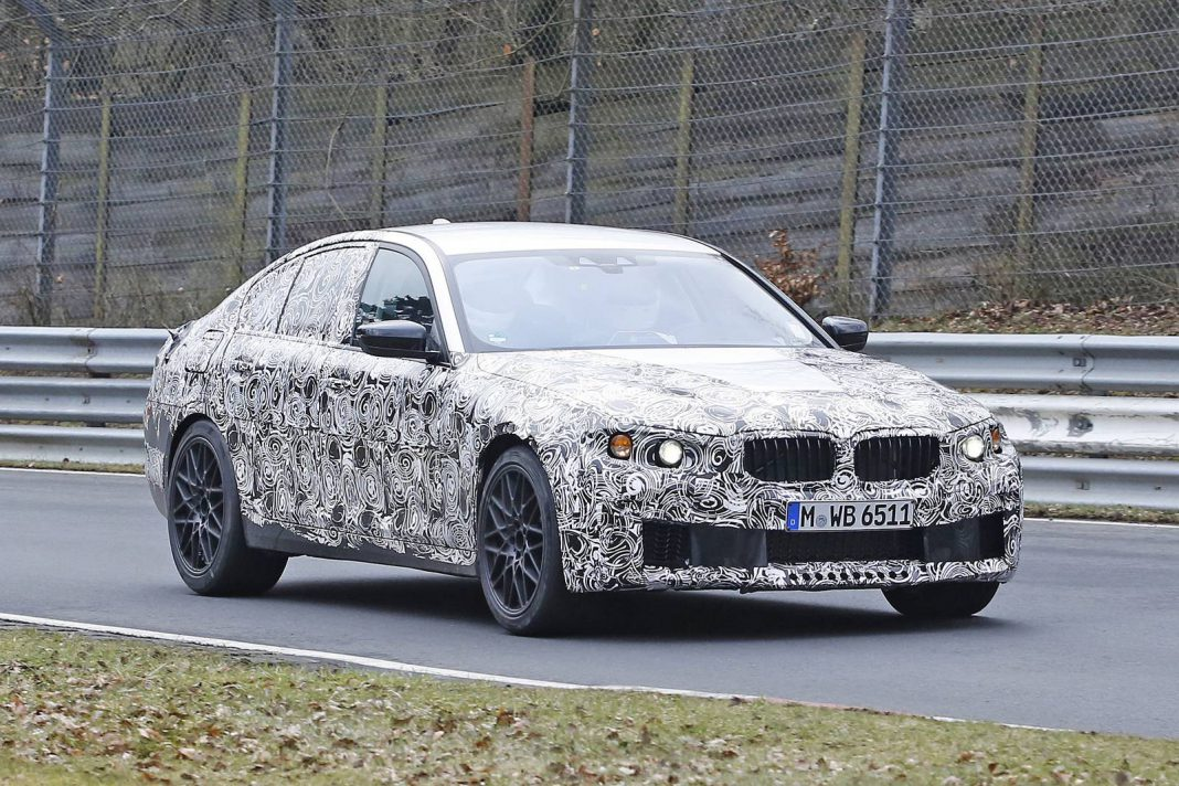 2018 bmw m5 spy shots at the nurburgring gtspirit. Black Bedroom Furniture Sets. Home Design Ideas