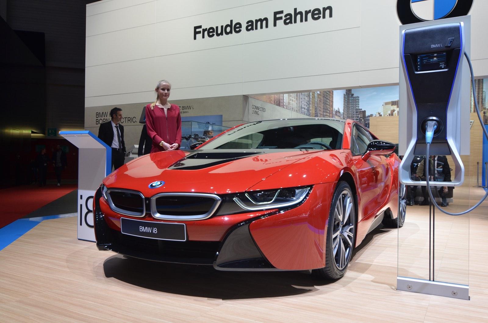 Geneva 2018 Bmw I8 Protonic Red Edition Gtspirit