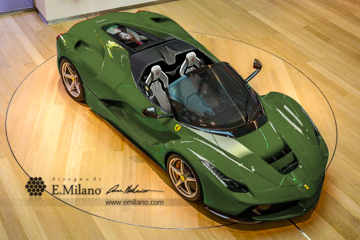 Ferrari Laferrari Spider New Renderings