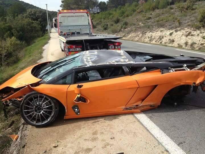Lamborghini Gallardo Bicolore Crashes Heavily In France Gtspirit