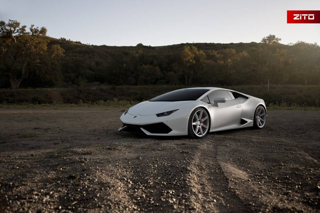 bianco novus lamborghini huracan with anodized silver zito wheels gtspirit. Black Bedroom Furniture Sets. Home Design Ideas
