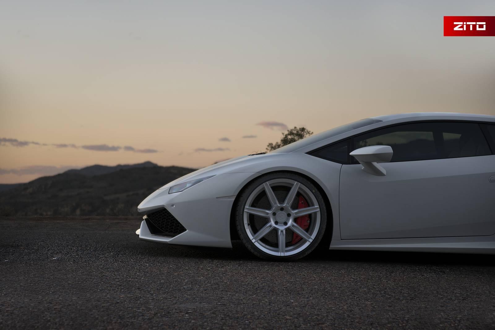 Silver Lamborghini Urus >> Bianco Novus Lamborghini Huracan with Anodized Silver Zito Wheels - GTspirit