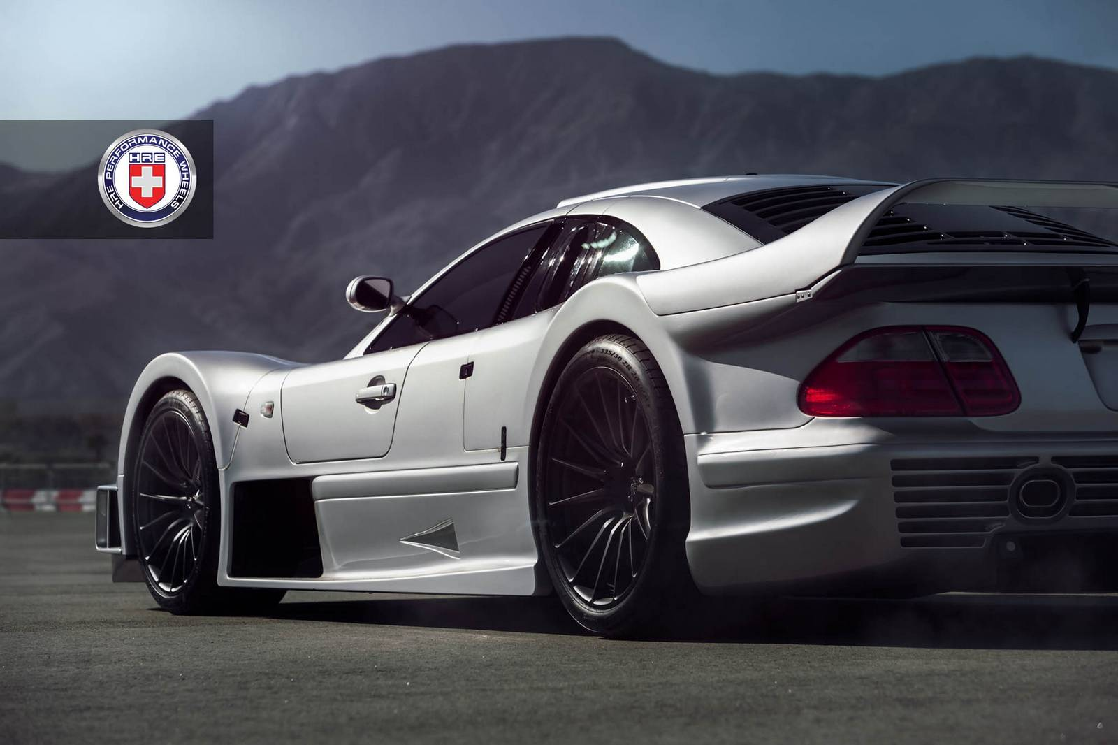 Stunning mercedes benz clk gtr with satin black hre wheels for Mercedes benz wheel