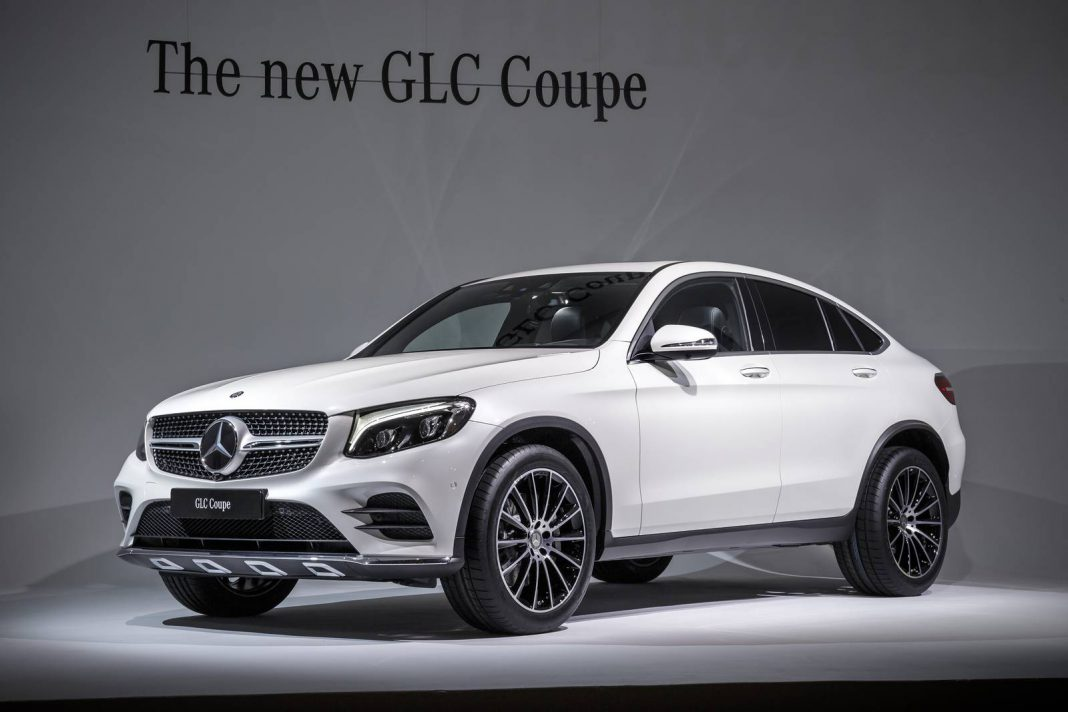 New york 2016 mercedes benz glc coupe gtspirit for Mercedes benz glc