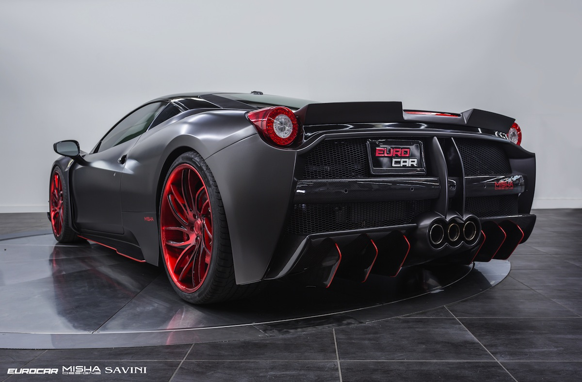 Satin Black Ferrari 458 Italia By Misha Designs Gtspirit